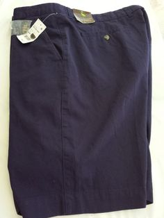 Tailorbyrd Flat Front Navy Blue Shorts Men's size 46 Tall 100% Cotton New #Tailorbyrd #CasualShorts $22.97