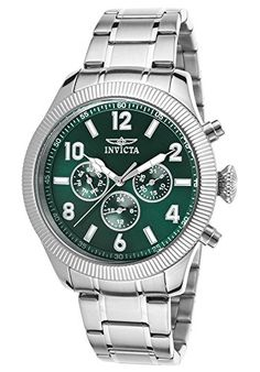 Men's Wrist Watches - Invicta Mens 20328SYB Specialty Analog Display Swiss Quartz Silver Watch *** Check out the image by visiting the link.