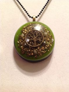 Orgone ASG Tree of Life pendant with 3 Rhodizite 2 by ArtThatWorks, $40.00