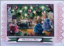 Shadow Box Decoupage Card by Sheila Weaver - Joanna Sheen