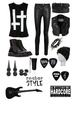 """""""Rock"""" by sup-its-alex-peace ❤ liked on Polyvore featuring Acne Studios, Burberry, Forever 21, Obsessive Compulsive Cosmetics, rockerchic and rockerstyle"""