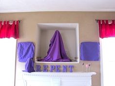 Veiling the cross & religious images in the home during Lent.