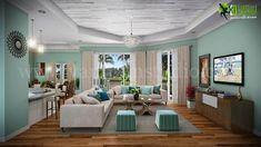 Residential #3D #Interior Design #Modeling Living Room collection of Elegant and Modern Interior design ideas
