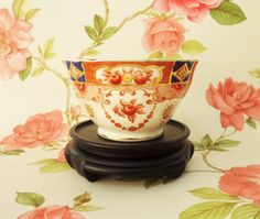 Spencer Stevenson Open Sugar Bowl Royal Stuart Hand Tinted Vintage English China…