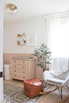 The Nursery Reveal – Baby Girl E's New Room baby girl nursery, nursery reveal, pink nursery, modern baby nursery