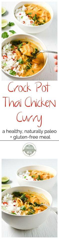 Clean Eating Crock Pot Thai Chicken Curry Recipe