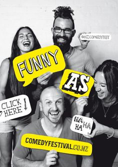 best comedy festival branding and posters - Google Search