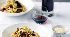 Australian Gourmet Traveller Italian main course pasta recipe for tagliatelle with mushrooms