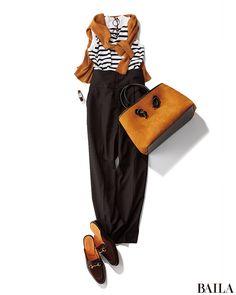 シンプルマリンスタイルは、キャメルカラーを投入してあか抜け!-@BAILA 60 Fashion, Minimal Fashion, Fashion Pants, Timeless Fashion, Autumn Fashion, Fashion Outfits, Womens Fashion, Fashion Trends, Casual Winter Outfits