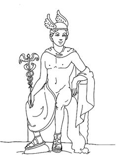 Hermes Greek God Coloring Pages Peacock Coloring Pages, Detailed Coloring Pages, Mandala Coloring Pages, Greek Mythology Gods, Greek Gods And Goddesses, Roman Mythology, Online Coloring Pages, Coloring Pages For Kids, Christmas Coloring Pages