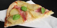 Kartoffelpizza med bacon