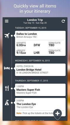 TripCase – Travel Organizer– Capture d'écran