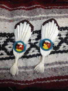 Fan earrings...beautiful