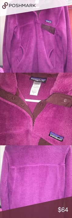 Patagonia W's Re-Tool Snap-T Violet-purple snap buttons fleece pullover--USED, but super cozy and really good condition still (WOMEN'S SMALL) price negotiable Patagonia Jackets & Coats