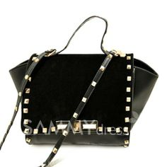 $15.38 Fashion Women's Crossbody Bag With Rivets and Splice Design