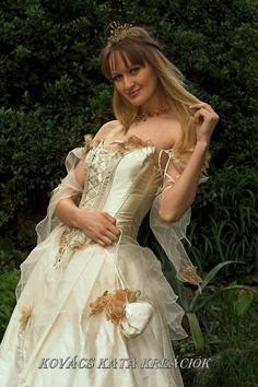Rococo Inspired Fairy princess Corseted Ball or Alternative Wedding Gown via Etsy.