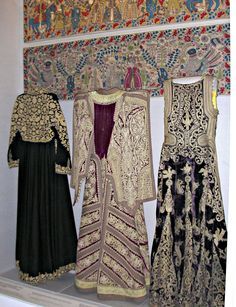 Costumes, Benaki Museum, Athens, Greece this was the most AMAZING place if you LOVE textiles :) Greek Traditional Dress, Traditional Fashion, Traditional Outfits, Benaki Museum, Empire Ottoman, Costumes Around The World, Hand Embroidery Dress, Ethnic Dress, Greek Clothing