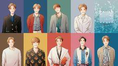 Touch❤ Pretty Art, Cute Art, Nct 127, Korean Anime, Kpop Drawings, K Pop Star, Flower Boys, Fanarts Anime, Kpop Fanart