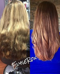 Total color overhaul! Wow! I had to lighten up the underneath part of her hair and then glazed it out. #olaplex #colormelt #kloekardashianhair #beforeandafter #matrix #shadeseq #chicago #chicagohair #chicagostylist #chicagohairstylist #behindthechair #modernsalon #beautylaunchpad #beautifulhair #longhair #thickhair #naturallight #nofilter