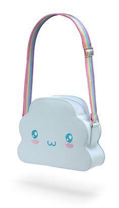 ThinkGeek :: Rainbow Cloud Handbag - How To Fashion Harajuku Fashion, Kawaii Fashion, Cute Fashion, Fashion Bags, Fashion Styles, Kawaii Bags, Kawaii Clothes, Kawaii Cute, Kawaii Accessories