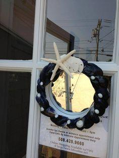 Cape Cod Shell Design custom mirror.