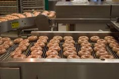 Krispy Kreme donut production line