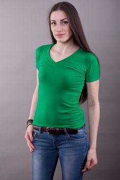 Футболка обычная зеленая мод.10061301 Размеры: 44-58 Цена: 160 руб.  http://optom24.ru/futbolka-obychnaya-zelenaya-mod10061301/  #одежда #женщинам #футболки #оптом24