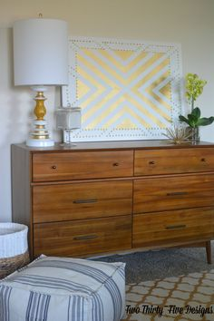DIY Gold Studded Wall Art - Two Thirty-Five Designs