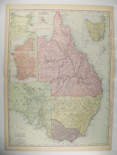 big map of australia large vintage map 1912 rand mcnally map australia queensland victoria