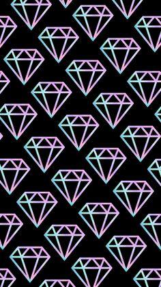 New Wallpaper Celular Senha Ideas Diamond Wallpaper, Emoji Wallpaper, Retro Wallpaper, Kawaii Wallpaper, Cute Wallpaper Backgrounds, Tumblr Wallpaper, Wallpaper Iphone Cute, Cellphone Wallpaper, Pretty Wallpapers