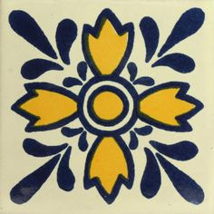 Traditional Mexican Tile - Oreja De Leon Our patterned decorative Traditional Talavera Tile is a han Rustic Kitchen Design, Outdoor Kitchen Design, Outdoor Kitchens, Tile Design, Layout Design, Mexican Folk Art, Mexican Tiles, Motif Floral, Tropical Decor