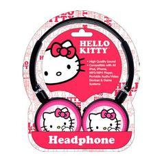 Para escutar suas músicas preferidas com estilo, use os fones de ouvido da Hello Kitty da Modjo
