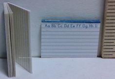 DOLLHOUSE School 1//12 Miniature Lined Handwriting Penmanship Pad of Paper