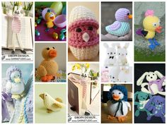Free Crochet Patterns: Spring Toys (Bunnies, Chicks & Ducks)