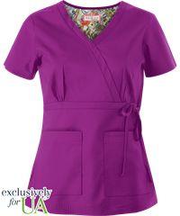 Koi Scrubs Women's Katelyn Mock Wrap Top