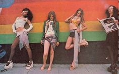 Sable Starr, Queenie Glam, Lori Maddox, Shray Mecham..70s LA groupies.