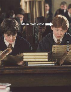 Eu na aula de Matemática