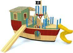 Pirate Ship Playhouse Plans for Kids Backyard Playhouse, Build A Playhouse, Davy Jones' Locker, Shed Windows, Large Backyard Landscaping, Backyard Ideas, Big Backyard, Backyard Projects, Patio Ideas