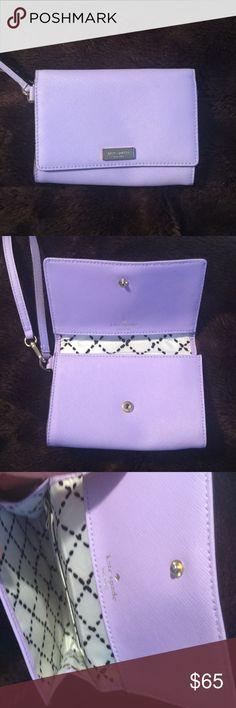 Kate spade lavender wristlet Kate spade lavender wristlet. Great condition! kate spade Bags Clutches & Wristlets