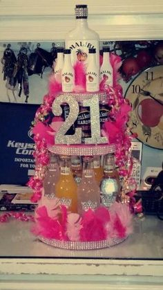 21st birthday Alcohol Cake by francisca
