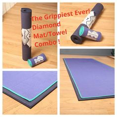 Try out YogaRat's new Natural Rubber Mat ! Perfect Grip with our custom designed Diamond Grip Yoga Towel !!!