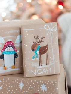 handpainted gift wrap craftberrybush