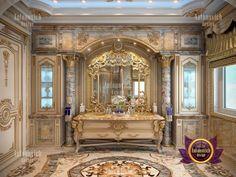 Villa design in Lagos Baths Interior, Mansion Interior, Dream House Interior, Dream Home Design, Interior Design Dubai, Interior Design Gallery, Villa Design, House Design, House Columns