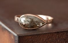 Image of Natural Chocolate Diamond Ring in 14kt Rose Gold