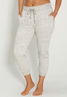 Plus Size Spacedye Jogger Pant With Pockets
