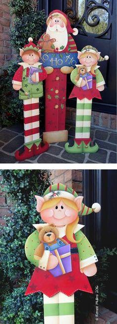 "#706 ""Girl Elf Porch Greeter"" (PATTERN)"
