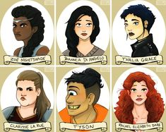 Percy jackson characters. Artist?