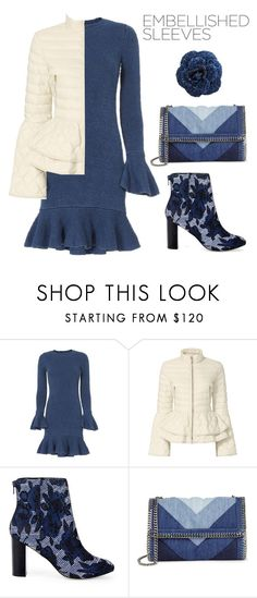"""""""Blue Roses"""" by tina-kene ❤ liked on Polyvore featuring Exclusive for Intermix, Elizabeth Roberts, Sole Society, STELLA McCARTNEY, Chanel and embellishedsleeved"""