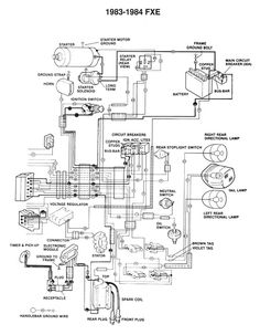 Simple Harley Wiring Diagram For Motorcycles 1967 Mustang Ignition Switch Davidson Shovelhead | Motorcycle Pinterest Davidson, ...