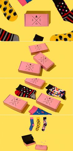 Custom socks are becoming increasingly popular with more and more socks brands vying to get their product on your feet. Of course, Audacious Sock Wear chose to use their gorgeous custom packaging to stand out from the crowd. Custom Mailer Boxes, Fashion Packaging, Bee Boxes, Custom Socks, Creativity And Innovation, Pinterest Photos, Custom Packaging, Cool Socks, Packaging Design Inspiration